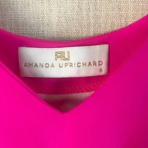8dc6b3288d67 Amanda Uprichard Pants - Amanda Uprichard Hot Pink Silk Circle Romper